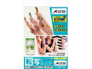 【お取り寄せ】エーワン/転写シール[インクジェット] 透明タイプ A4 7セット/52112