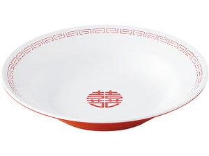 【お取り寄せ】エンテック/新形冷麺皿 白/赤/CA-19
