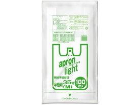オルディ/エプロンライト手提げ袋 半透明 M 35号 100枚