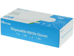 ニトリル手袋 Lサイズ 粉なし 100枚