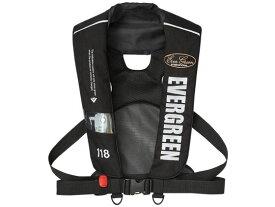 【お取り寄せ】エバーグリーン/インフレータブルジャケット タイプ5 EGブラック
