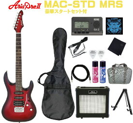 Aria ProII MAC-STD MRS SETアリアプロ エレキギター メタリックレッドシェード【Stage-Rakuten Guitar SET】