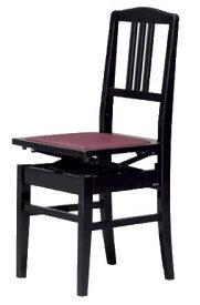 【Made In Japan】Yoshizawa PEACOCK 5K Black吉澤 日本製 背もたれ付き 高低自在ピアノ椅子 ブラック