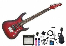 Aria ProII MAC-STD MRS SETアリアプロ エレキギター メタリックレッド【初心者セット】【アンプセット】