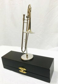 SUNRISE SOUND HOUSE ミニチュア楽器 トロンボーン 1/6サイズサンライズ サウンド ハウス シルバー