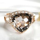 K18YGアメジストダイヤモンドリング