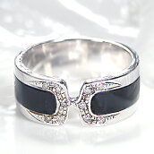 K18WGオニキスダイヤモンドリング