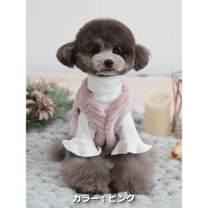 【メール便対応】サイズ:S/SM/M/LTOTO&ROYロハスファーベスト高品質ファー防寒冬のファッション犬服ペット・ペットグッズ犬用品小型犬中型犬