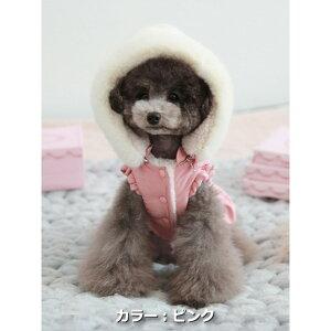 【メール便対応】サイズ:S/SM/M/LTOTO&ROYスノーフードダウンワンピース防寒ファッショナブルファーフードダウンウェア犬服ペット・ペットグッズ犬用品小型犬中型犬