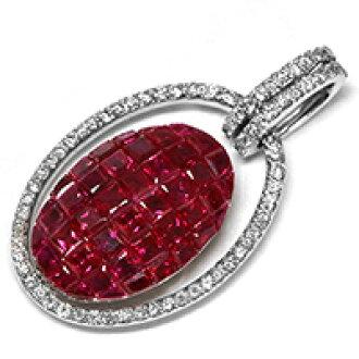 Burma from Burmese Ruby 3  50 CT mystery setting and diamond pendant