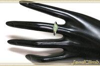 【厳選ジュエリー】UVタイプ・ライムガーネット1.33CT・ダイヤPTリング