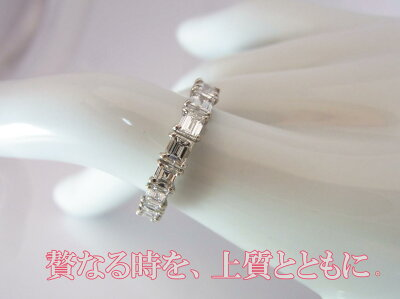 PT900天然ダイヤバケットカットリングD.2.00ct