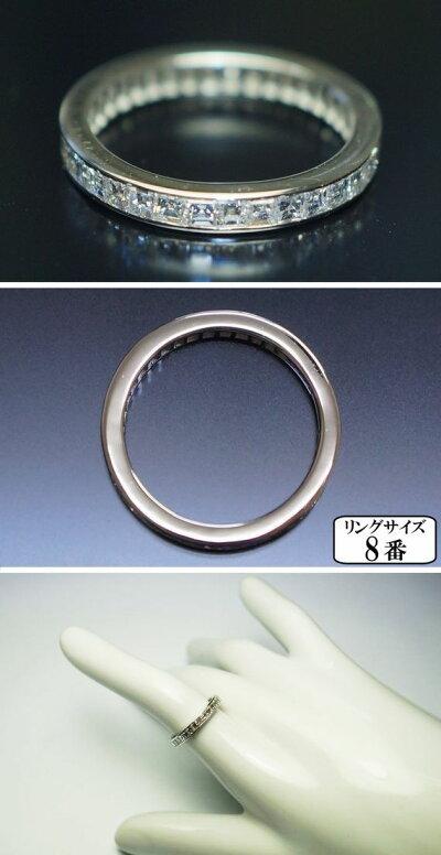 K18WG至高のフルエタニティーリング天然ダイヤ1.15ct【VSクラス】8号サイズ直し不可