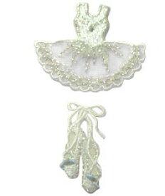 バレエ刺繍のアップリケ