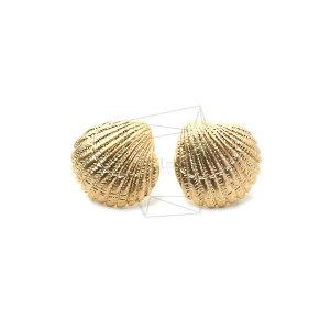 ERG-1289-MG【2個入り】シーシェルピアス ,seashell Earring Post