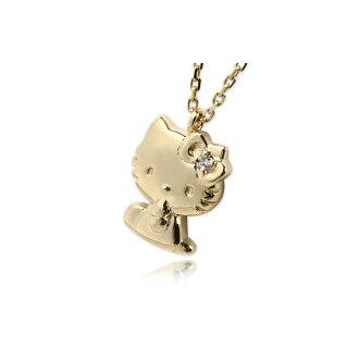 J plus rakuten global market hello kitty 18 gold necklace diamond pendant hello kitty kitty chan toy ladies j product name product name mozeypictures Gallery