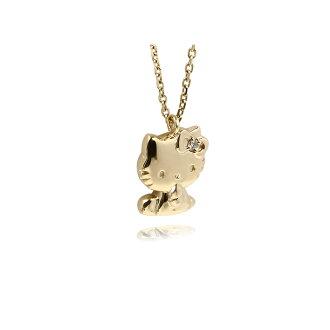 J plus rakuten global market hello kitty 18 gold necklace diamond pendant hello kitty kitty chan toy ladies j product name product name product name mozeypictures Gallery