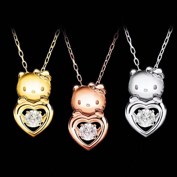 ハローキティ ネックレス 大人 グッズ18金 キティちゃん Hello Kitty Diamond ダンシングストーン ダイヤ ジュエリー 女性 レディースジュエリー キティ 誕生日プレゼント プレゼント 誕生日 記念日 ギフト