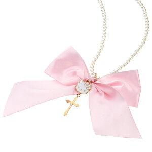 ハローキティ パール リボン ネックレス誕生日プレゼント キティ プレゼント キティちゃん ギフト ラッピング おすすめ 女性 レディースジュエリー 在庫限り