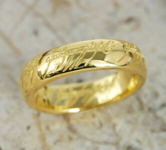 The One Ring (the one) • Gold 18 k gold (K18) • load-of-the-ring limited wrapping accessories