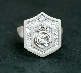 Real Madrid silver ring ( ring ) D present gift Christmas wrapping