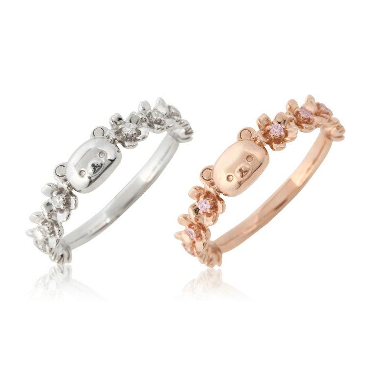 リラックマ さくら リング 指輪 大人 かわいいRilakkuma グッズ 花 桜 レディースジュエリー Ring アクセサリー プレゼント かわいい おすすめ ギフト ラッピング無料 誕生日 記念日 女性 贈り物 ホワイトデー