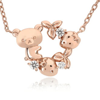 Korilakkuma 草莓吊坠导师: 学生: 我熊玩具生日礼物礼物 Rilakkuma 项链玩具包装圣诞礼物