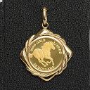 ツバル/ホースコイン金貨 K24(純金) 1/10オンス ホースコイン K18枠付きペンダントトップ