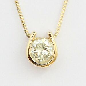 【送料無料】K18 クローバー モチーフ ダイヤモンドネックレス 18k ネックレス トップも18Kチェーンも18K!天然ダイヤモンド1石 計0.2ct トップ裏は幸運を呼ぶクローバー!