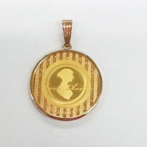 ジェーン・オースティン 没後200周年記念コイン(2017年)ペンダントトップ K22 1/2オンス
