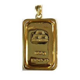 【あすつく対応】24金 純金 インゴット INGOT [日本マテリアル 純金 インゴット 100g] ゴールドバー+専用ペンダント枠(シルバー925)