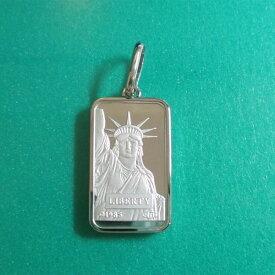 リバティコイン Pt999.5(純プラチナ) 20g リバティコイン インゴット 自由の女神 プラチナ850枠付きペンダントトップ