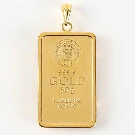 【送料無料】24金 純金 インゴット INGOT [徳力 純金 インゴット 30g] ゴールドバー+専用ペンダント枠(シルバー925)