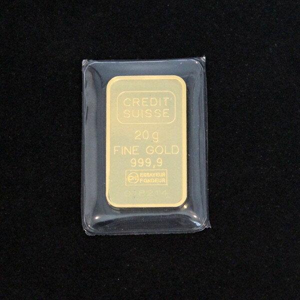 【送料無料】24金 インゴット INGOT [CREDIT_SUISSE インゴット 20g] ゴールドバー『金の国際ブランド グッドデリバリー・バー』リバティコイン
