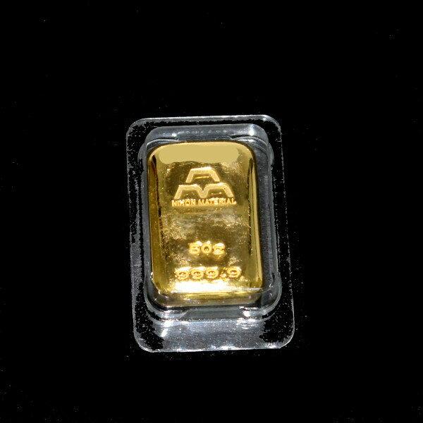 【送料無料】24金 インゴット INGOT [日本マテリアル インゴット 50g] ゴールドバー『金の国際ブランド グッドデリバリー・バー』