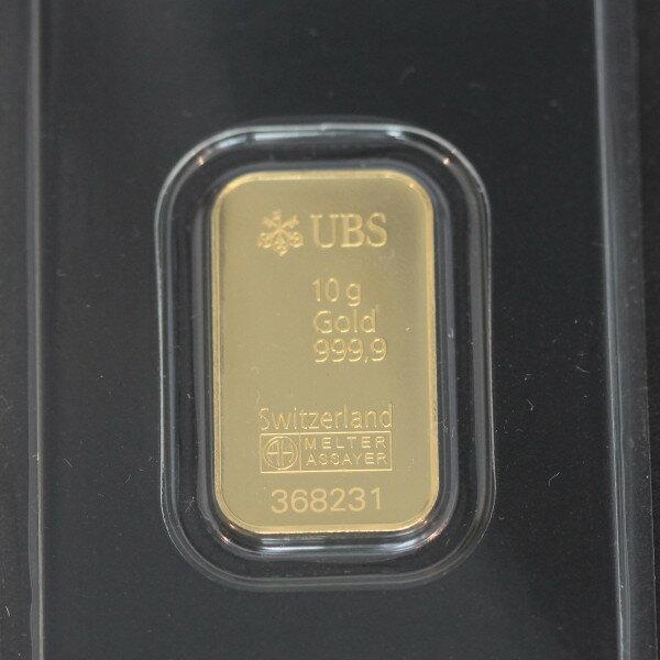 【送料無料】24金 インゴット INGOT [UBS インゴット 10g] ゴールドバー『金の国際ブランド グッドデリバリー・バー』