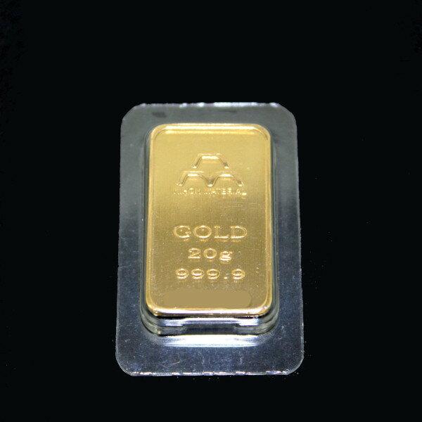 【送料無料】24金 インゴット INGOT [日本マテリアル インゴット 20g] ゴールドバー『金の国際ブランド グッドデリバリー・バー』