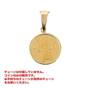 リロ&スティッチ コイン ペンダント メダル 24金 K24 純金 1/25oz ディズニー Pobjoy Mint社製(チェーンは付属していません)