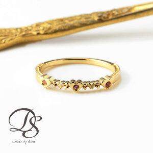 ゴールド リング ハート リング ring gold 18k 天然石 リング 18金 k18 プレゼント DEVAS ディーヴァス