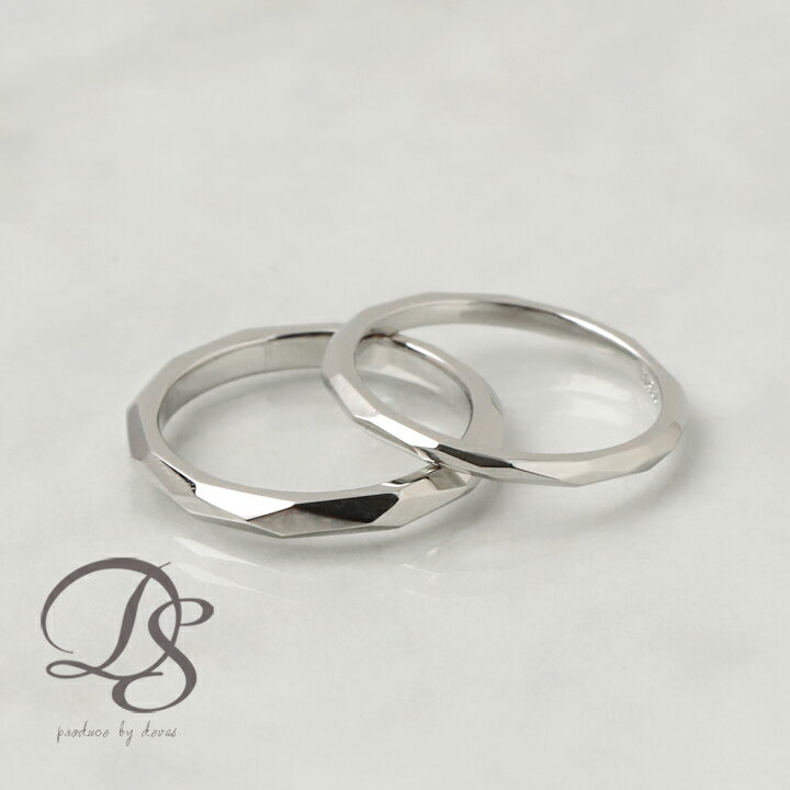 【送料無料】Pt950 プラチナ リング カットデザイン ペアリング 幅2.2mm/幅1.6mm 結婚指輪 マリッジリングレディース メンズ プラチナマリッジリング プラチナペアリング おしゃれ シンプル デザイン プレゼント DEVAS ディーヴァス