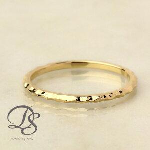K18 ゴールド 凸凹 槌目 地金 レディース リング gold 18k 刻印 ピンキーリング 18金 指輪 華奢 シンプル おしゃれ 個性的 大人 誕生日 記念日 プレゼント DEVAS ディーヴァス