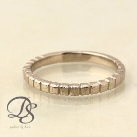ホワイトゴールド 18金 リング レディース WG 指輪 メンズ K18 18kブロックデザイン(M) 刻印 シンプル 誕生石 おしゃれ 誕生日 プレゼント 贈り物 彼氏 ペアリング 結婚指輪 DEVAS ディーヴァス