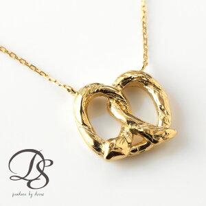 ゴールド ネックレス レディース k18 18金プレッツェル(縦) ネックレス オシャレなデザイン プレゼント DEVAS ディーヴァス