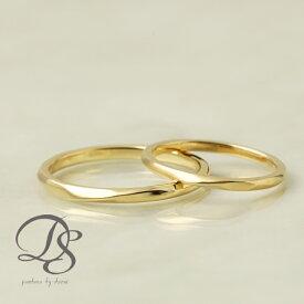ペアリング 2本セット ゴールド 18金 18k リング ひねり ツイスト レディース メンズ 結婚指輪 マリッジリング 誕生日 プレゼント 贈り物 ゴールドリング ペア ジュエリー ペアアクセサリー DEVAS ディーヴァス 1012b