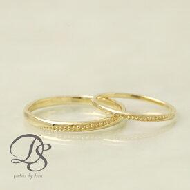 K18 ゴールド ペアリング 2本セット 18金 18k リング ミルグレイン ミル打ちレディース メンズ 結婚指輪 マリッジリング 誕生日 プレゼント 贈り物 妻 彼女 かわいい ゴールドリング ペア ジュエリー ペアアクセサリー プレゼント DEVAS ディーヴァス 1012b