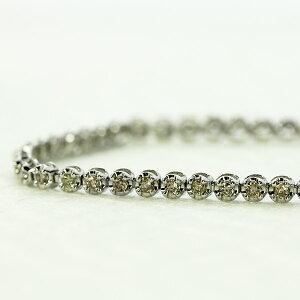 テニスブレスレット K18 ホワイトゴールド ダイヤモンド ブレスレット 1.0ct テニブレ 鑑別書付 保証書付 ギフト プレゼント