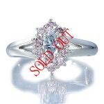 カラーダイヤのリング