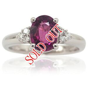 グレープガーネットの指輪