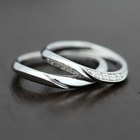 PT100(Pt10%) シンプルラインリング ダイヤモンド 0.10ct マリッジリング プラチナ ペアリング【結婚指輪】