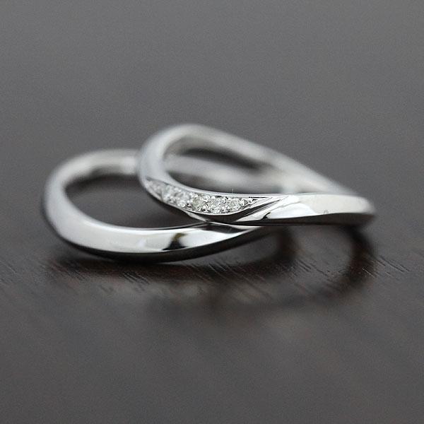 PT100(Pt10%) ダイヤモンド 0.05ct マリッジリング プラチナ ペアリング【結婚指輪】